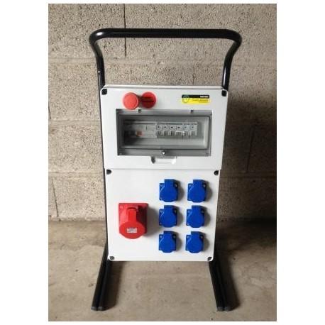 Coffret de distribution 12 prises 230V - arrêt d'urgence
